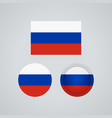 russian trio flags vector image vector image