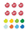 sale icons colored stickers set vector image vector image