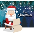 santa claus card pine landscape design graphic vector image