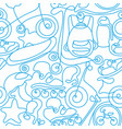 seamless pattern art line sports sketch vector image
