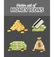 set icons with money vector image