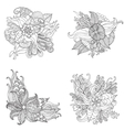 Set of Hand drawn artistic ethnic ornamental vector image vector image