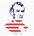 silhouette of abraham lincoln from the texture of vector image