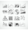 Sketch diagrams set vector image vector image