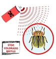 Spray against insects vector image