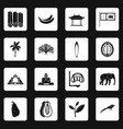 sri lanka travel icons set squares vector image vector image