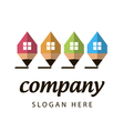 stylized logo construction company vector image vector image