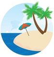 Summer island Palm trees on the beach vector image vector image
