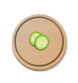 two realistic 3d slice juicy cucumbers icon vector image vector image