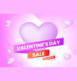 valentines day sale background with heart and vector image vector image