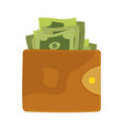 wallets with money vector image vector image