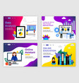 web page design templates for teamwork business vector image