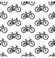 seamless pattern with bicycles black and white vector image