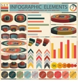 Detail infographic - retro style design vector image