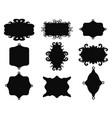black vintage frame set vector image