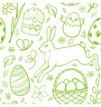 hand drawn easter pattern vector image