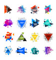 sacred geometry triangle abstract logo figures vector image