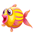A colorful pouty fish vector image vector image