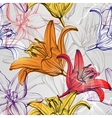 abstract floral blooming lilies background texture vector image vector image