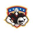 American Football Tackle Linebacker Helmet Shield vector image vector image