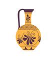ancient roman wine jug with handle antique vector image vector image