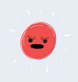 annoyed emoticon angry smile vector image vector image
