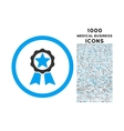Award Rounded Icon with 1000 Bonus Icons vector image vector image