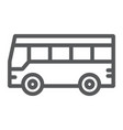 bus line icon traffic and public vehicle sign vector image vector image