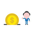 businessman character giving thumbs up with vector image