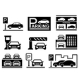 car on parking icons vector image vector image