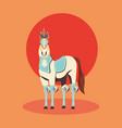 carnival horse circus show decoration retro vector image vector image