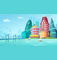 cartoon an urban landscape vector image vector image