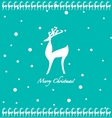 Cartoon deer background vector image