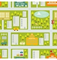 Cartoon map seamless pattern of summer city vector image