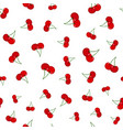 cherry seamless pattern ripe sweet tasty berries vector image