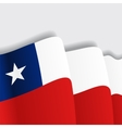 Chilean waving Flag vector image vector image