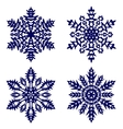 Christmas background Snowflakes vector image vector image