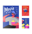 Cinema movie poster banner placard template