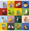 Circus flat icons set vector image vector image