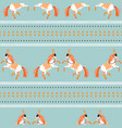 circus horse tribal seamless blue pattern vector image