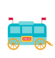 circus trailer wagon icon flat style isolated vector image vector image
