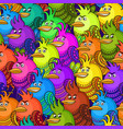 colorful funny birds seamless vector image