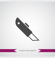 cutter icon simple vector image vector image