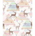 deers abstract pattern vector image vector image