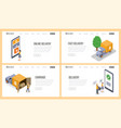 delivery service isometric landing page vector image vector image