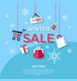 digital blue winter sale vector image vector image