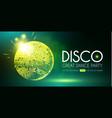 disco party flyer template with mirror ball fog vector image vector image