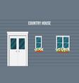 facade country house vector image