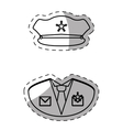 figure police uniform icon image vector image