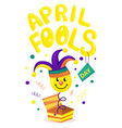 first april fool day typography colorful card vector image vector image